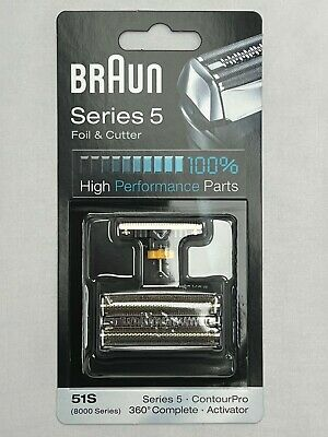 Genuine Braun 8000 360 Degree Activator Foil And Cutter 51S, Series 5 8595 8995