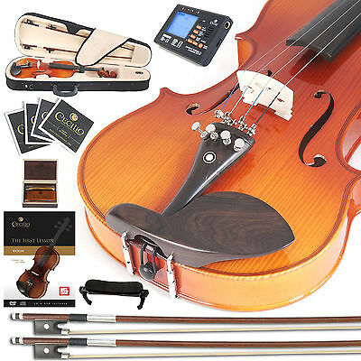 Cecilio Ebony Fitted Left-Handed Violin 4/4 3/4 1/2 1/4 CVN-320L +Tuner+Book+Vid