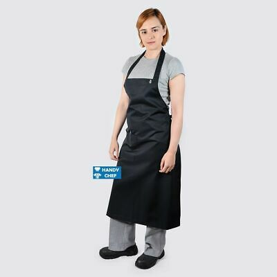 3 X Chef Bib Aprons Black , see handy chef store for quality chef Jackets, Pant