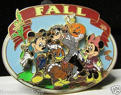 Disney Fall Mickey Mouse Minnie Mouse  Donald Duck & Goofy Artist Proof AP Pin