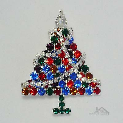 Lauren-Spencer Crystal ChristmasTree Pin Brooch  #P669S