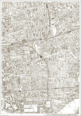 Bethnal Green, Commercial Rd East - London 1888 map 17