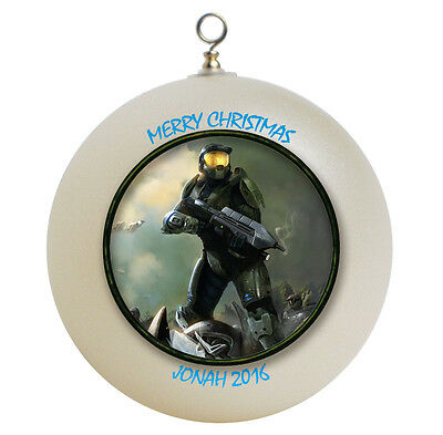Personalized Halo Master Chief Christmas Ornament Gift
