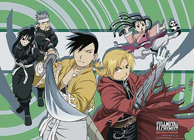 *NEW* Fullmetal Alchemist Brotherhood: Ed & Yao Group Landscape Wall Scroll