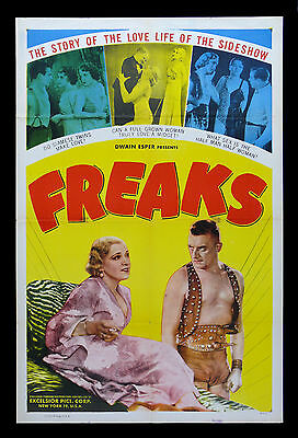 FREAKS * CineMasterpieces ORIGINAL MOVIE POSTER 1949R HORROR CIRCUS SIDESHOW