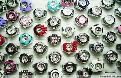 Brand New Lots 12Pcs Mixed Fashion Lovely Ring Watches