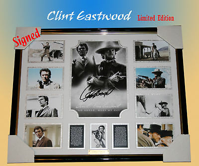 Clint Eastwood Signed Framed Limited Edition 499 W/ Coa