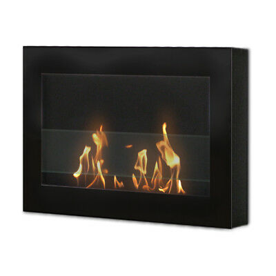 Anywhere Fireplace SoHo Black Wall Mount Fireplace Bio Fuel Odorless Smokeless