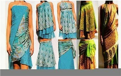 *50 Count Lot* Vintage Silk Magic Wrap Skirt +Bonus Dvd