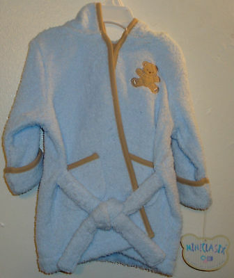 MiniClassix Baby Bathrobe w/Hood,Glove-cloth NWT BBS034
