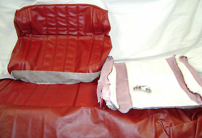 New 1965 Impala 2 Door Red Front Bench Seat Covers