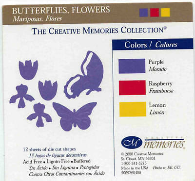 Creative Memories Butterflies & Flowers Die Cut Bn &nla