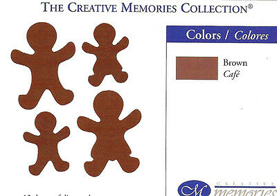 Creative Memories Gingerbread Men Die Cut Bn & Nla