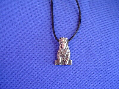 Borzoi Russian Wolfhound necklace #17Q Pewter Dog Jewelry by Cindy A. Conter