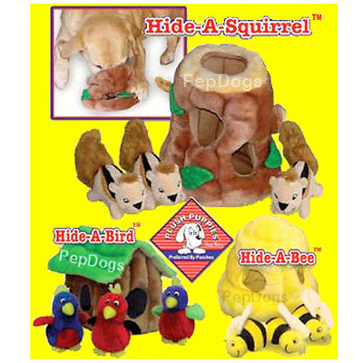 Outward Hound KYJEN Plush Puppies Hide a Toy Dog Squeaky Puzzle Games Toy