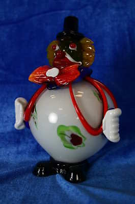 Dekorative, farbige Glasskulptur von Murano: Clown