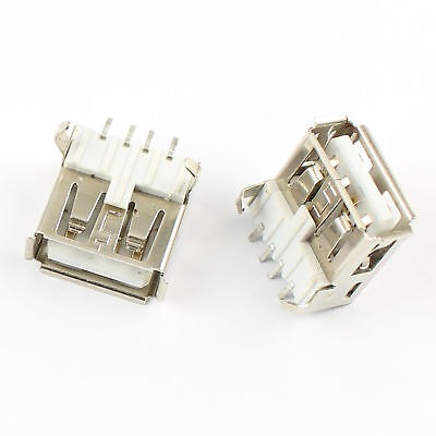 20Pcs USB 2.0 Type A 4 Pin Female SMT SMD PCB Socket Connector DIY