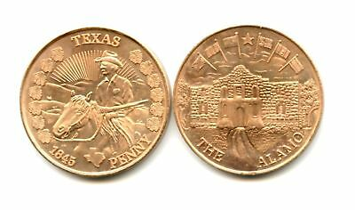 *wow* Beautiful Texas Commemorative Penny *excellent!*