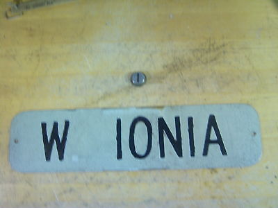 Vintage W Ionia Street Sign ~ Bay City, Michigan