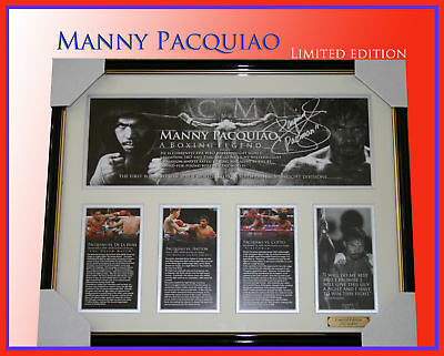 Manny Pacquiao Boxing Champion Limited To 499 Framed