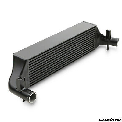 """2"""" Black Alloy Front Mount Intercooler Fmic Kit For Ford Escort Series 1 Rs"""