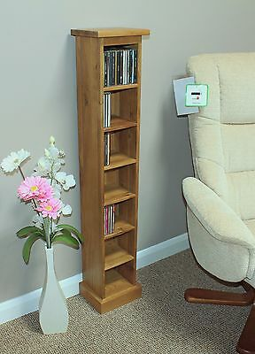 Cd Storage Tower Single Solid Oak Free Delivery....