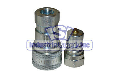"""3/8"""" ISO-B Hydraulic Hose Quick Disconnect Coupler"""