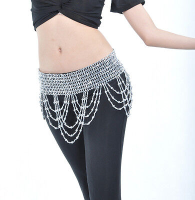 New Belly Dance costume Hip Scarf Belt Handmade Waist beads Gold/Silver