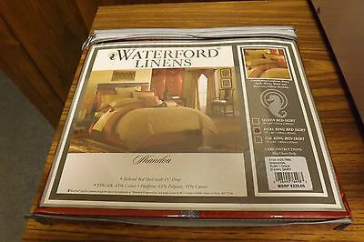 Waterford Linens Shandon bedskirt,  dual king