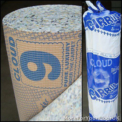 2 X Cirrus, 9mm Thick Cloud 9 Carpet Underlay - 30 M²