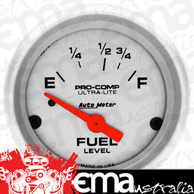 """Ultra-Lite Series Fuel Level Gauge (2-1/16"""", Short Sweep Electric, Ford, 73 ohms"""