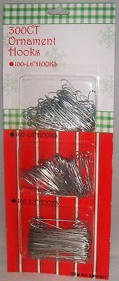 "Holiday Ornament Hooks [300Ct]  200 1.6"" Hooks/ 100 2.5"" Hooks"