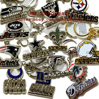 OFFICIAL LICENSED NFL KEYCHAIN KEYRING ***MANY TEAMS***