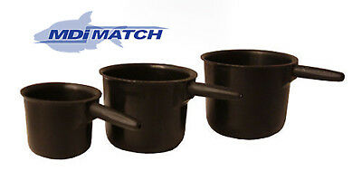 MDI Match Set of 3 Pole Fishing Cuops - Pots with Threaded end Adpaters