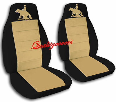 REINING HORSE DESIGN FRONT SET CAR SEAT COVERS  (