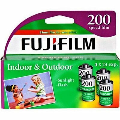 Fujifilm CA 200 ASA 24 Exp 4 Pack 35mm Color Film Total 96 Exposure