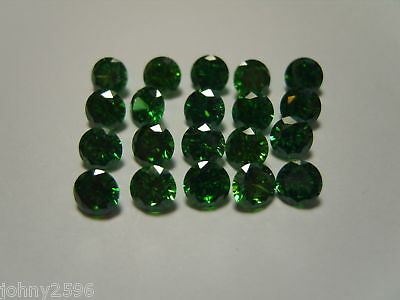 green cubic ziconia loose gemstones size 3.5mm round