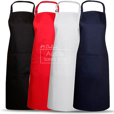 3 X Chef Hospitality Uniform Restaurant Full Bib Aprons