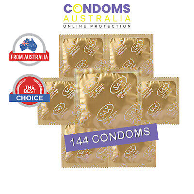 Sax Max Fitting Condoms Bulk  (144 Condoms) (60mm XL CONDOM)