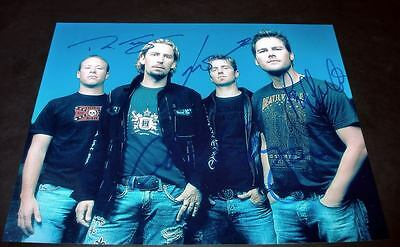 "NICKELBACK PP SIGNED 10X8"" PHOTO REPRO Chad Kroeger"
