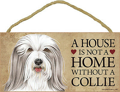 Bearded Collie Wood Sign Wall Plaque Photo Display 5 x 10 + Bonus Coaster
