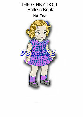 Ginny Doll Pattern 7-8 inch outfits Book No. 4 wardrobe