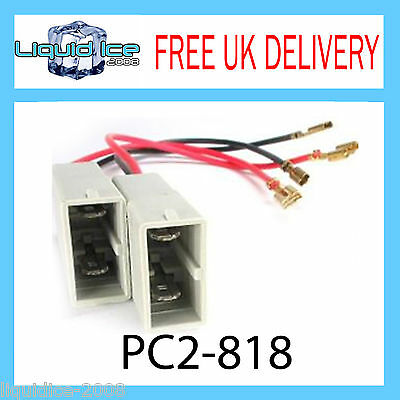 Pc2-818 Honda Accord Civic Ep2 Ep3 Speaker Adaptor Lead Cable Plug Car