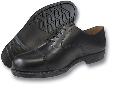 Raf Dms Service Shoes With Toe Cap, Black, Genuine [05001]