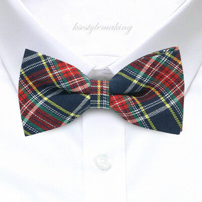 *BRAND NEW*MULTI-COLORED LUXURY CHECK AWESOME TUXEDO BOYS BOW TIE B772