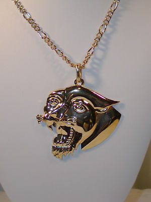 "Hip Hop 30"" Gold Plated Chain Pendant Necklace Ed Hardy"