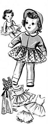 """Vintage 10"""" Doll & Clothes Pattern 294"""