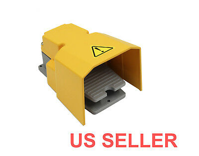 Heavy Duty Industrial Foot Switch Pedal with Guard Aluminum Cast 15A SPDT=NEW=L3
