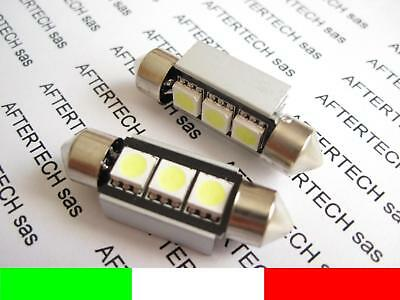 COPPIA LAMPADINE 3 LED SMD5050 SILURO 42mm NO ERRORE N2