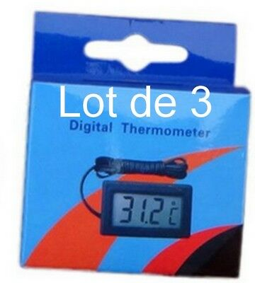lot de 3 THERMOMETRE digital+ cable + sonde 3 x Thermomètres PILES AG13 FOURNIES